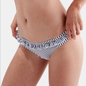Anthro NWOT Solid & Striped Milly Bikini Bottoms